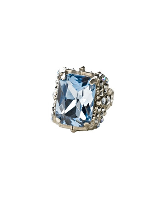 Sorrelli Ice Blue- Snowflake Cocktail Ring~ RCK2ASIB