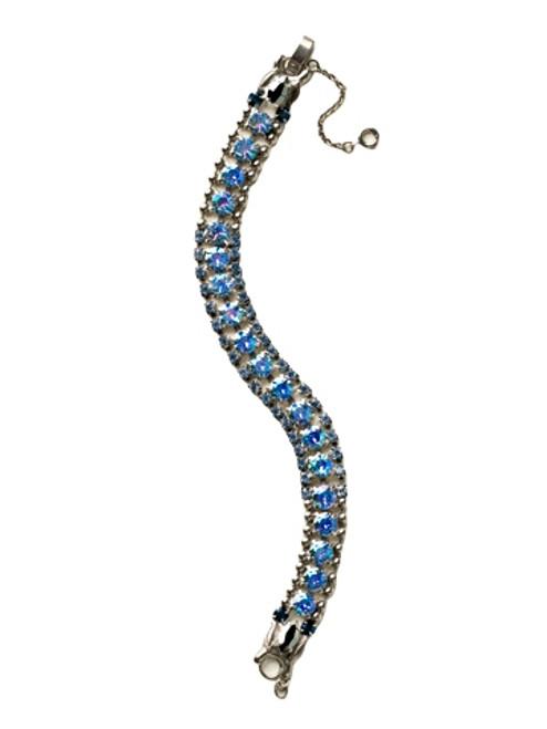 Sorrelli Ice Blue- Right on Track Tennis Bracelet~ BCN5ASIB