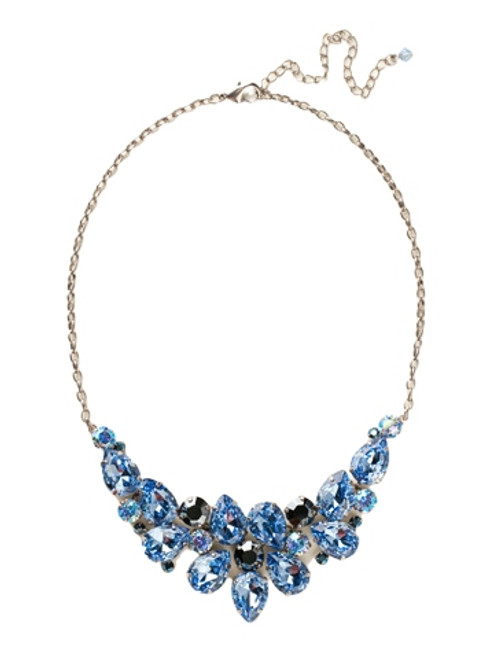 Sorrelli Ice Blue- Dare to Pear Crystal Statement Necklace~ NCP3ASIB