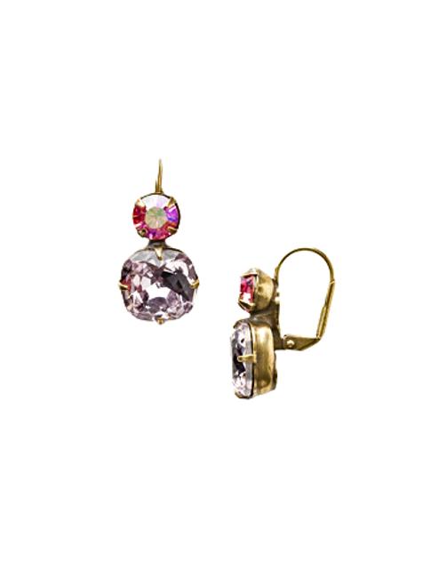 Sorrelli Light Rose On The Edge Crystal Dangle Earrings~ ECL4AGLTR
