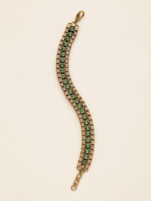 Sorrelli Wild Fern Crystal Bracelet bcw14agwfn
