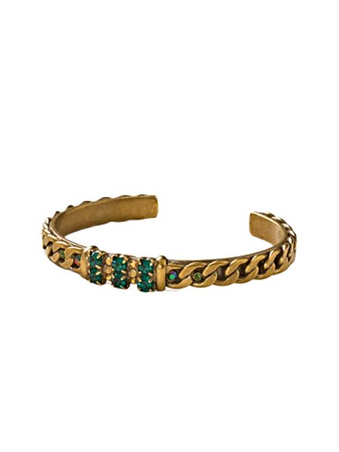 Sorrelli Wild Fern Crystal Bracelet- BDE13AGWFN