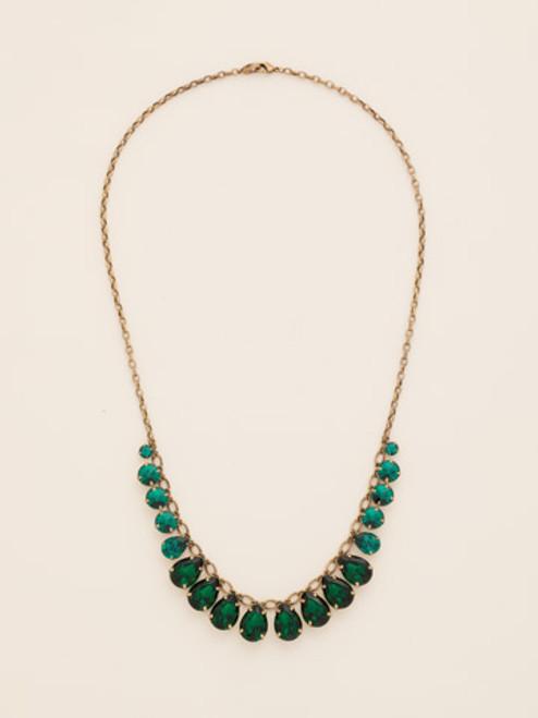 Sorrelli Wild Fern Crystal Necklace ndb41agwfn