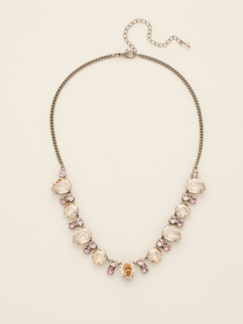 Sorrelli Satin Blush Crystal Necklace ncw27assbl