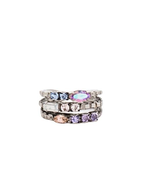 Sorrelli DIXIE-Triple Stacked Crystal Ring~ RCT29ASDX