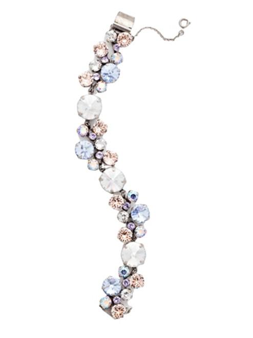 Sorrelli DIXIE-Circular Crystal Cluster Line Bracelet~ BCW10ASDX