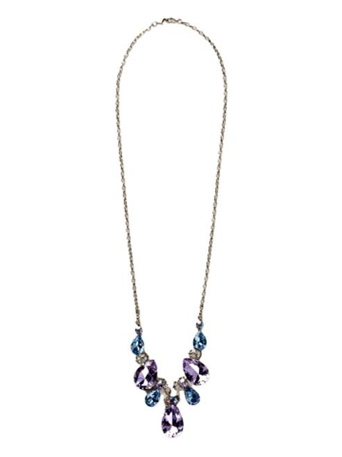 Sorrelli DIXIE- Teardrop Triangle Crystal Bib Necklace~ NCR77ASDX
