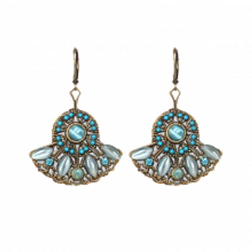 Michal Golan Atlantis Collection - Fan Shaped Drop Earrings ~ S7828