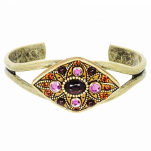 Michal Golan Garnet Collection - Diamond Shape Cuff Bracelet ~ SB541