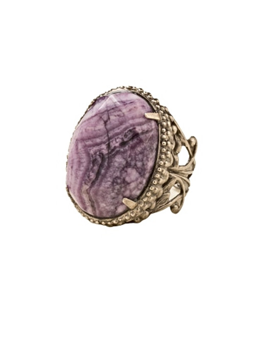 Sorrelli African Violet-Semi Precious Solitaire Ring~ RCW50ASAFV