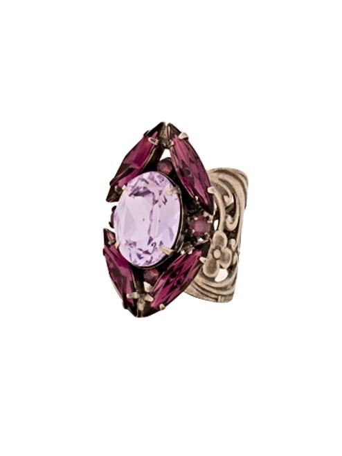 Sorrelli African Violet Oval and Navette Crystal Ring~ RDB3ASAFV