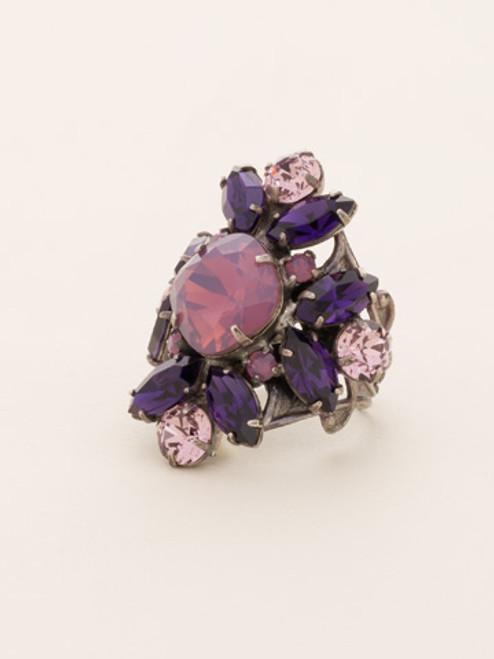 Sorrelli African Violet Crystal Ring RCR62ASAFV