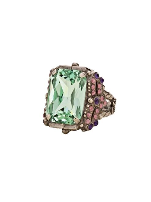 Sorrelli African Violet- Snowflake Crystal Ring~ RCK2ASAFV