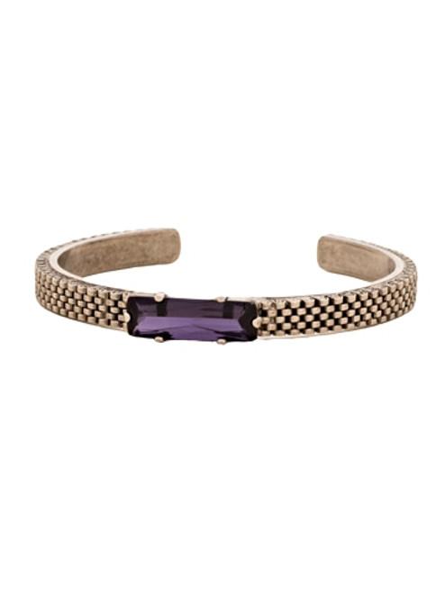 Sorrelli African Violet Crystal and Mesh Cuff Bracelet~ BCW15ASAFV