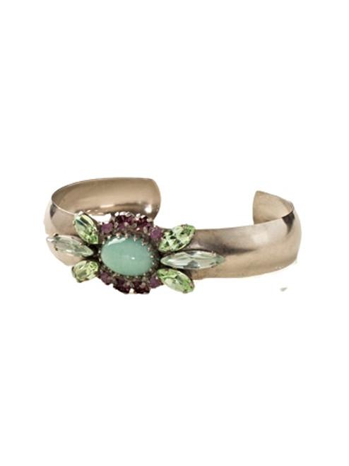 Sorrelli African Violet-Semi-Precious and Crystal Navette Cuff Bracelet~ BDE5ASAFV