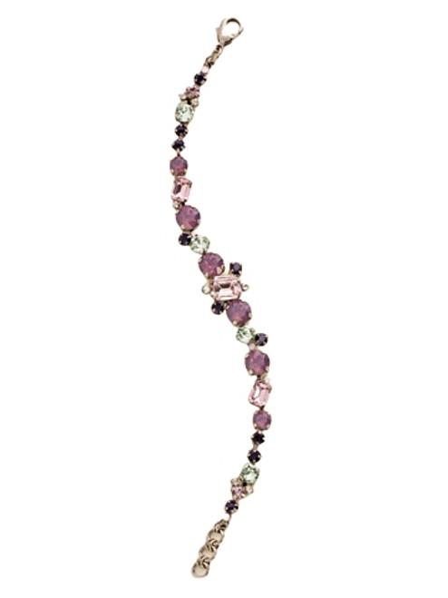 Sorrelli African Violet-Classic Multi-Cut Crystal Line Bracelet~ BCR137ASAFV