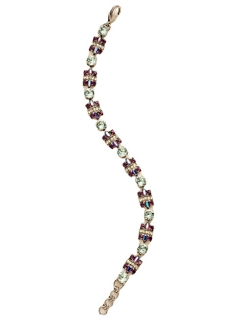 Sorrelli African Violet- Geometric Crystal Section Line Bracelet~ BDE21ASAFV