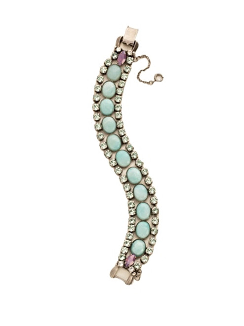 Sorrelli African Violet-Semi-Precious Triple Row Line Bracelet~ BDE48ASAFV
