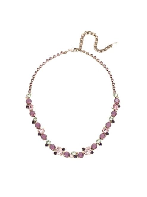 Sorrelli African Violet- Glittering Multi-Cut Crystal Necklace~ NCF6ASAFV
