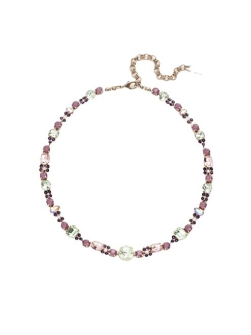 Sorrelli African Violet Classic Clover Crystal Necklace~ NCD2ASAFV