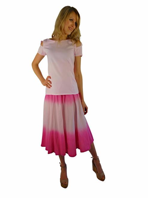 Luna Luz Double Dip Ombre Skirt Cartwheel Pink 197W