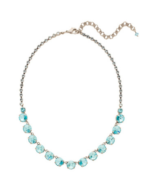 Sorrelli Teal Textile Crystal Necklace