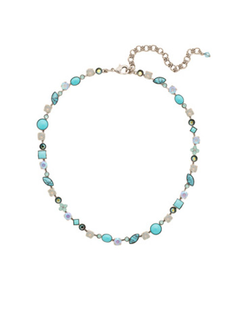 SORRELLI Teal Textile Necklace NAQ3ASTT