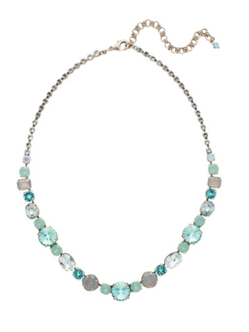 SORRELLI Teal Textile Necklace NCP38ASTT