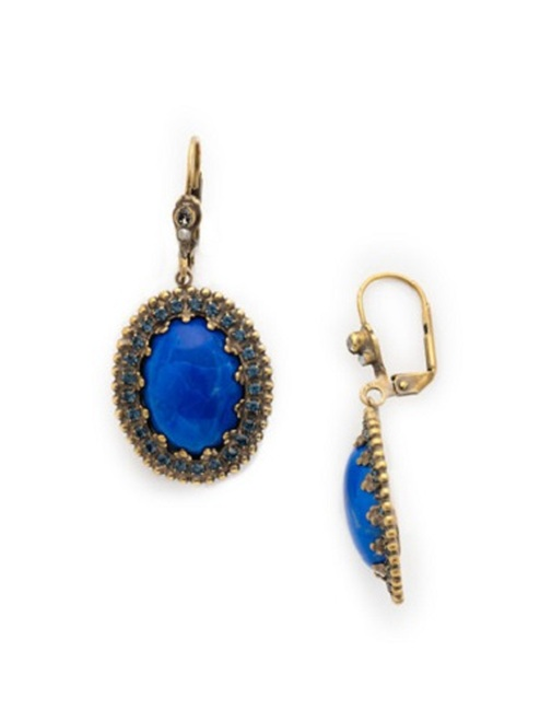 Dress Blue Crystal Earrings