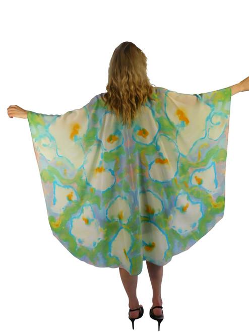 Hand Painted Silk Wrap~Franklin Street Studio~F1007