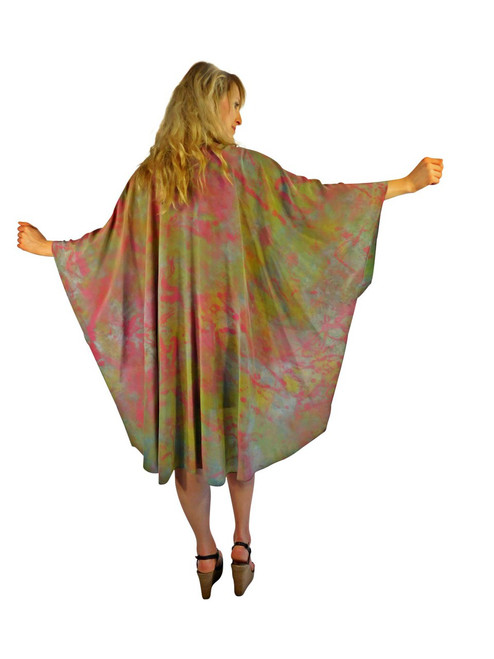 Hand Painted Silk Wrap Franklin Street Studio FS1017
