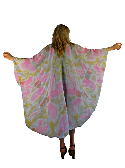 Hand Painted Silk Wrap Franklin Street Studio FS1025