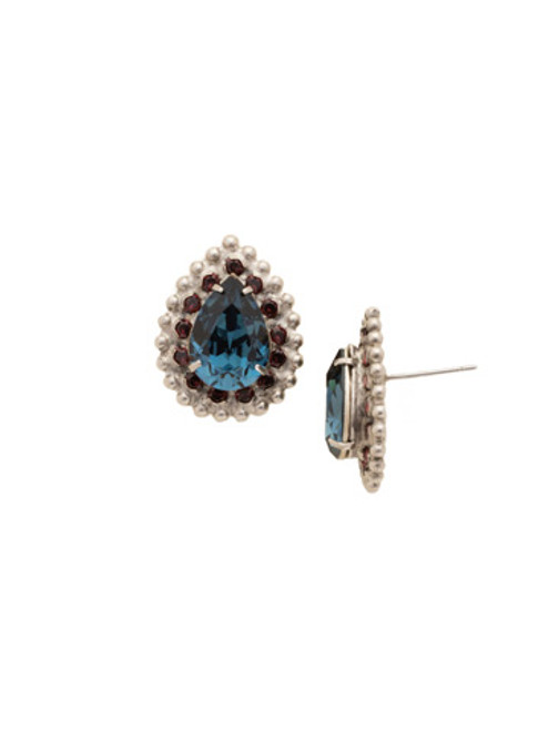 blue Brocade Earrings