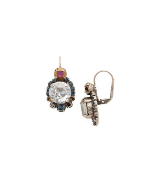 Sorrelli Blue Brocade Crystal Earrings