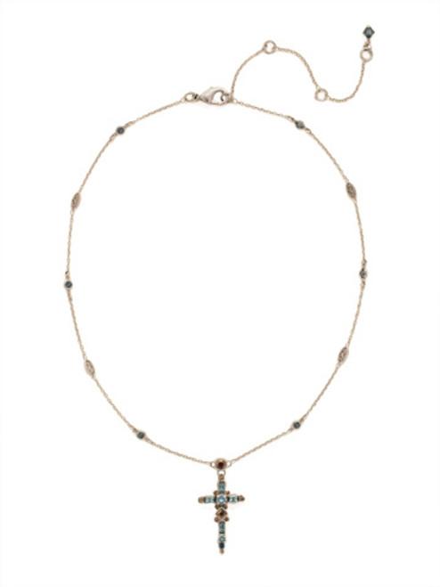 Sorrelli Blue Brocade Crystal Necklace