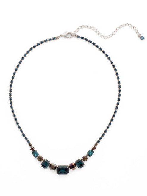 Sorrelli Blue Brocade Crystal Necklace