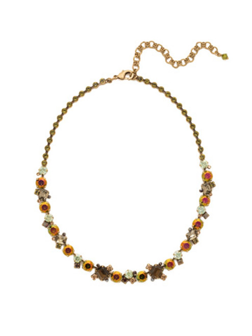 GREEN TAPESTRY CRYSTAL NECKLACE by Sorrelli NCF6AGGTA
