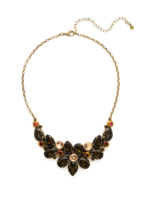 GREEN TAPESTRY CRYSTAL NECKLACE by Sorrelli NCP3AGGTA