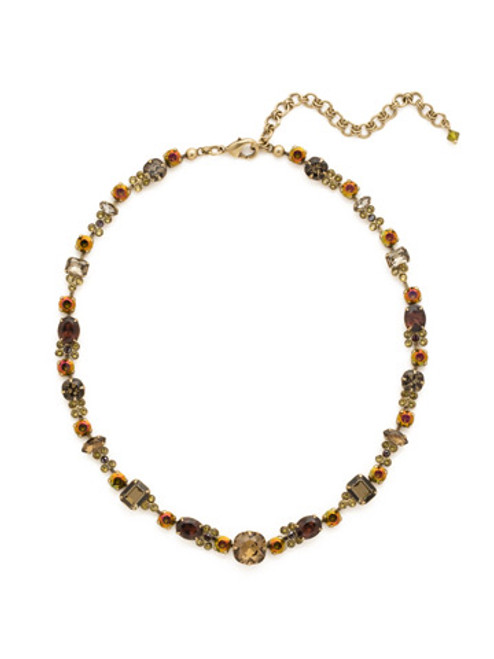 GREEN TAPESTRY CRYSTAL NECKLACE by Sorrelli NCD2AGGTA