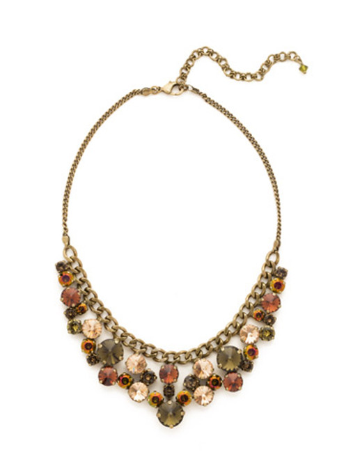 GREEN TAPESTRY CRYSTAL NECKLACE by Sorrelli NCW10AGGTA