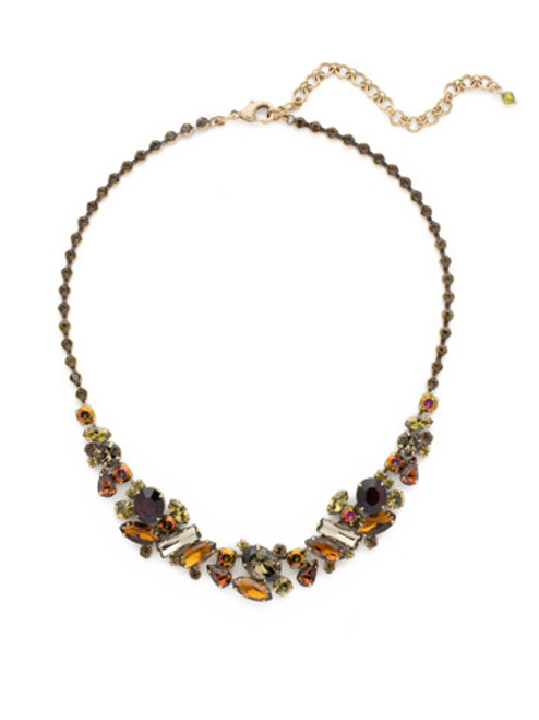GREEN TAPESTRY CRYSTAL NECKLACE by Sorrelli NDG11AGGTA