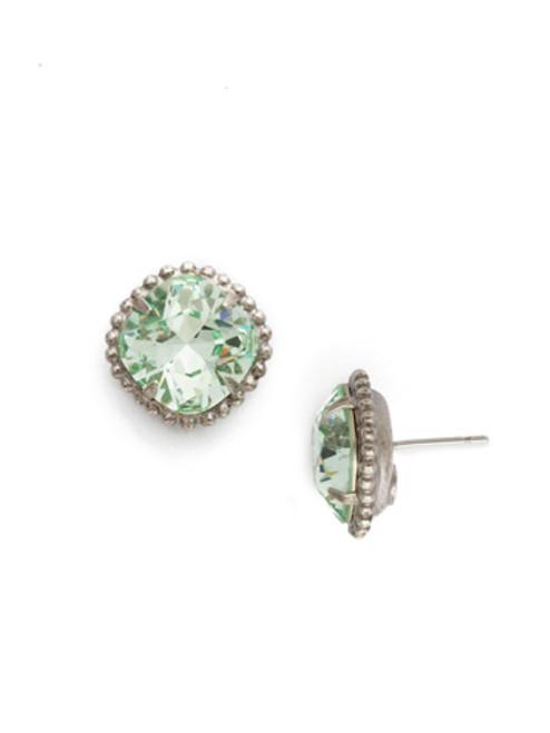 Sorrelli Mint Cushion Cut Solitaire Crystal Earrings~ EBX10ASMIN