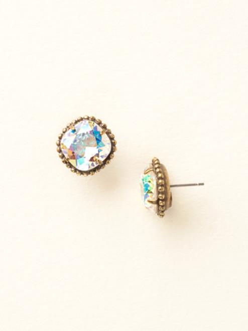 Sorrelli Essentials ~ Cushion-Cut Solitaire Crystal Earrings