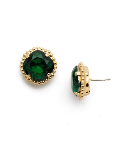 Sorrelli Essentials~Emerald Crystal Earrings~EBX10BGEME