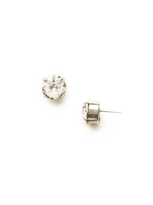 Sorrelli Essentials Round Crystal Stud Earrings ecm14ascry