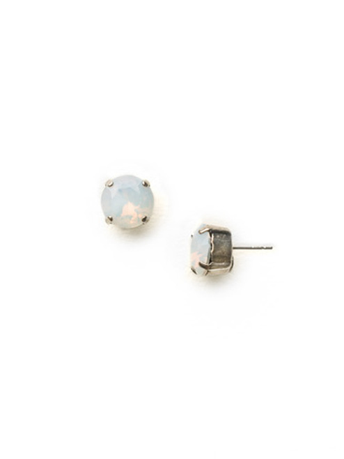 Sorrelli Essentials White Opal Crystal Earrings ECM14ASWO