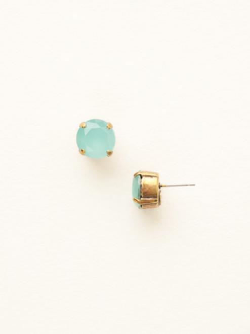 Round Crystal Stud Earrings ecm14agpac