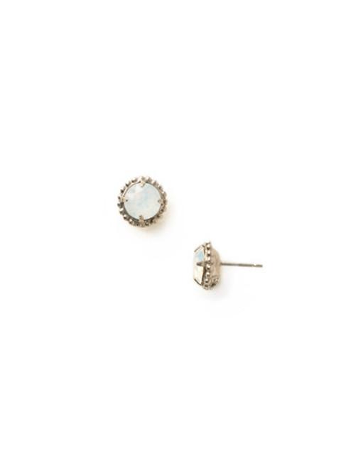 Sorrelli Essentials White Opal Crystal Earrings EBY38ASWO