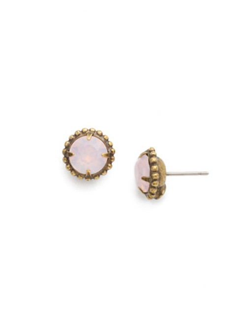 Sorrelli Essentials ROSE WATER- Simplicity Crystal Stud Earrings~ EBY38AGROW