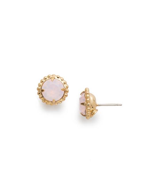 Sorrelli Essentials ROSE WATER - Simplicity Crystal Stud Earrings~ EBY38BGROW
